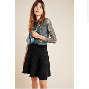 NWT Anthropologie Kristina Chenille Mini Skirt M